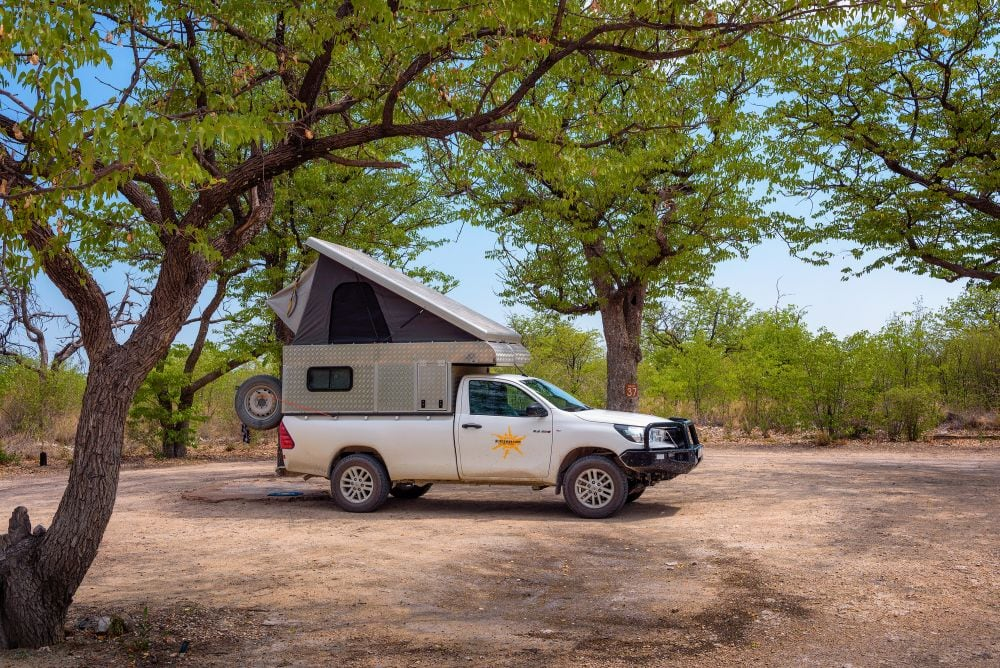 Pick Up Truck With Rooftop tent
