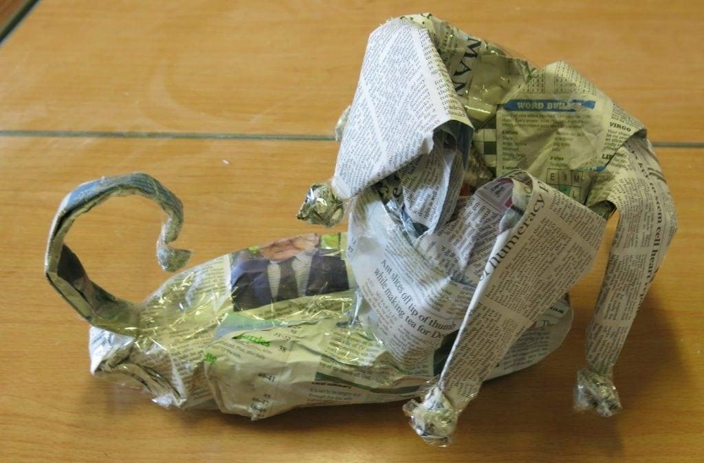 newspaper boot
