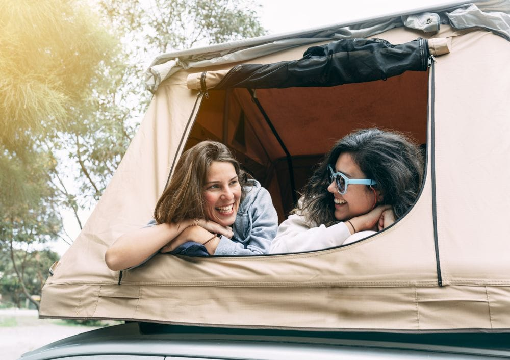Rooftop Tent With Hard Shell
